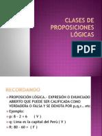Clases de Proposiciones Lógicas