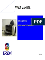 Epson Stylus Color C64 - C84 Service Manual