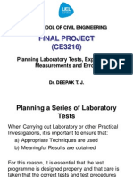 6. Planning Laboratory Tests Experimental Measurements and Errors1