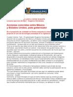 Com0619, 040306 Eugenio Hernández pide acciones concretas entre México y Estados Unidos.