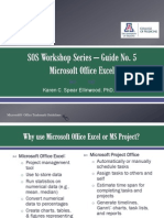 SOS Guide No. 05 Microsoft Office Excel 2010 Basics