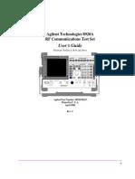 8920A RF Communications Test Set Users Guide (Apr00) 08920 90219