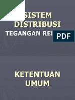 Sistem Distribusi Tegangan rendah
