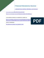Evaluación Del Potencial Hidroeléctrico Nacional