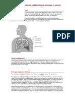 Drainage of Pleural Effusions