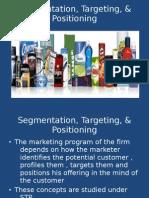 Segmentation, Targeting, & Positioning