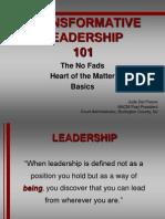 4-Transformative Leadership 101