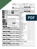 Bard Character Sheet