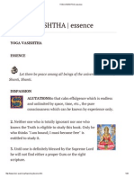 Yoga Vasishtha _ Essence