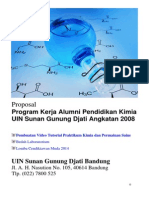 Proposal Program Kerja Alumni Pendidikan Kimia Angkatan 2008