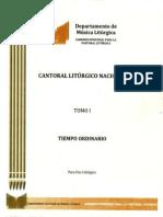 Cantoral Litúrgico Tiempo Ordinario Tomo-1