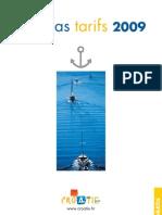 Marinas tarifs 2009