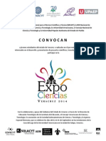 Convocatoria ExpoCiencias
