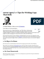 David Ogilvy's 7 Tips for Writing Copy That Sells
