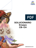 Solucionario Ensayo CB-124 2014 CIENCIAS