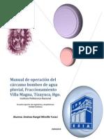 Manual de Operación Del Cárcamo Bombeo de Agua Pluvial_1