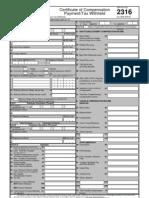 BIR Form 2316