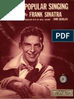 Tips on Popular Singing - Frank Sinatra