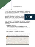 Diseño de Una Vivienda Unifamiliar Aislada en El Conjunto Residencial Ubicado en El Sector Colinas de San Cristobal