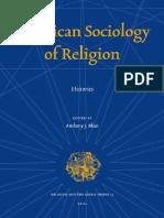 Anthony Blasy Sociology of Religions