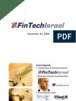 FinTechIsrael November Event Presentation 11.22