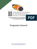 Bibliografia Del Programa-II-Congreso en Antropologia. Colegio de Michoacan
