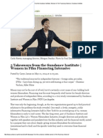 5 Takeaways From the Sundance Institute _ Women in Film Financing Intensive _ Sundance Institute