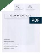 Scan Kliping Berita Perumahan Rakyat, 18 Juni 2014