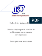 1 Mtodosimplexparalasolucindeproblemasdeoperacionesdeinvestigaciones 121102135536 Phpapp01