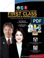 Souvenir Magazine - D3780 2014 Recognition & Awards Night May 23, 2014