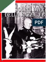 Mussolini Difensore Della Razza Ebraica