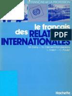 Le Francais Des Relations Internationales