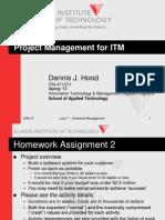 ITM x71 - Lect 7 - Schedule Management