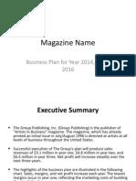 Magazine Business Plan
