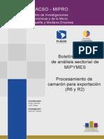 Boletin Mensual de Análisis Sectorial de MIPYMES. Procesamiento de Camaron Para Exportacion (Ministerio de Industrias y Productividad. ECUADOR)ç