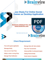 Case Study For Online Social Games as Desktop Application