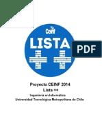 Programa Lista++ CEE Ingeniería Informática UTEM