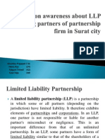 A Study on Awareness About LLP Among Partners