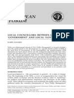 Between Local Government and Local Governance