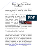 What to Know About Auto Accident Back Injury
