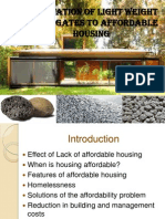 Application of Light Weight Aggregates to Affordable Housing (1)