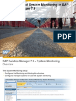 SAP SOLMAN Setup System Monitoring and Alerting