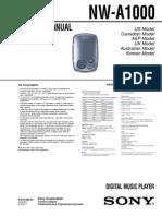 Sony NW-A1000 Service Manual v1.0 2005