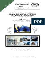 Manual Del Sistema de Gestion de La Calidad ISO 9001 2008 Del SENASA Revision 01