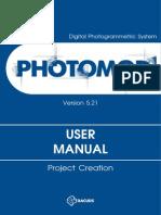 PHOTOMOD. Project Creation