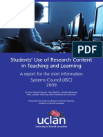 Students Use Research Content