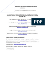 TT-110 Final Modelo Probabilistico Del Transporte de Mineral en Mineria