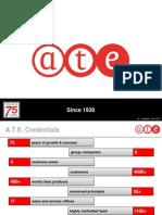 A.T.E.corporate Presentation