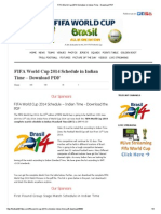 Fifa World Cup 2014 Schedule In Indian Time Pdf