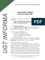 Informa Aclaraciones Bolsa Del Ses